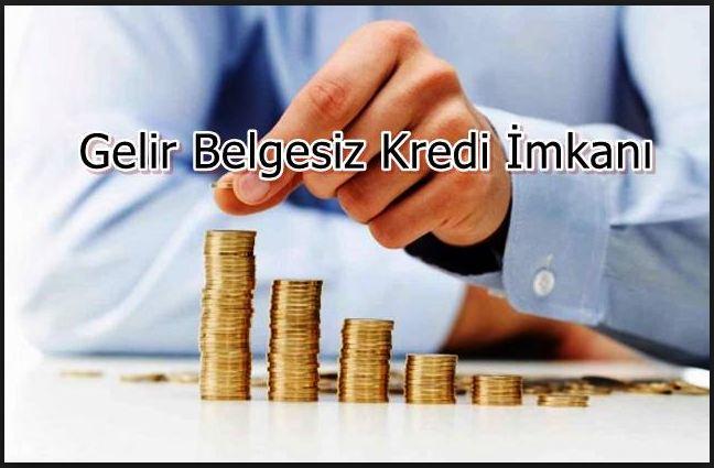 Gelir Belgesiz Kredi Veren Bankalar ve Başvuru