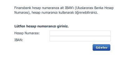 Finansbank IBAN No Sorgulama Hesaplama ve Öğrenme