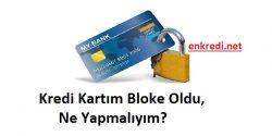 kredi kartı bloke