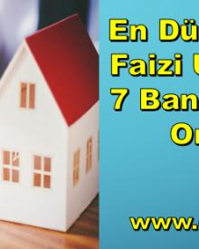En Düşük Konut Faizi Uygulayan 7 Banka ve Faiz Oranları